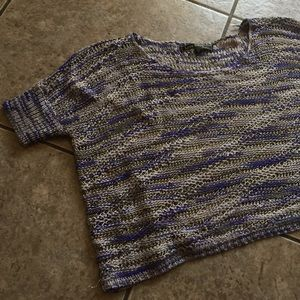Knit Cop Top with Gold Stitching